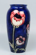 "Large 10"" Walter Moorcroft Pottery Big Poppy Vase - Signed PT"