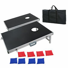 All Ages CornHole Bean Bag Toss Game Set Portable Foldable With Carrying Handles