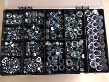 M6, M8, M10, M12, Hexagon Nuts,  Fullnuts & Nyloc Nuts Assorted Box 500 pcs