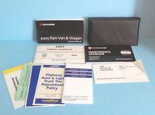 03 2003 Dodge Ram Van and Wagon owners manual