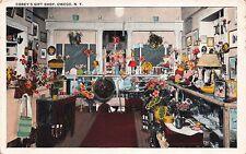Postcard Interior of Corey's Gift Shop in Owego, New York~110930
