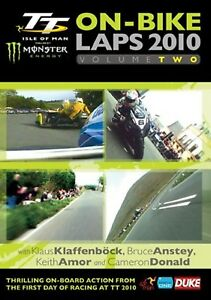 ISLE OF MAN TT - ON-BIKE LAPS 2010  V-TWO  DVD - FREE POST UK