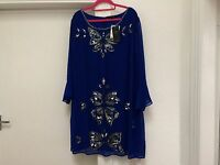 BNWOT JOANNA HOPE BLUE SEQUINNED FORMAL COBALT BLUE TUNIC TOP PLUS SIZE 32