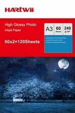 100 Sheets + 20 Sheets  A3 240Gsm High Glossy Photo Paper Inkjet Paper  Hartwii