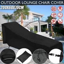 Outdoor Sunlounge Cover All-Weather Water& Dust& Mold-Proof Chair Cover Black