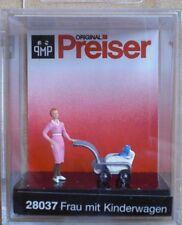 HO 1/87 PREISER Woman w/ Baby Carriage 28037 NIP Frau mit Kinderwagen