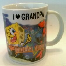 Universal Studios Coffee Mug Cup I Love Grandpa Sponge Bob Shrek Spider Man Hulk