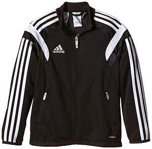 Adidas Condivo 14 Youth Training Jacket Size Large YL Black Full Zip Jacket NEW