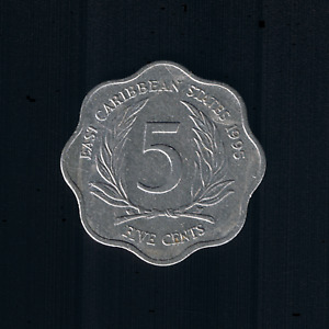 East Caribbean States - 5 Cents - 1995 - KM# 12