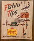 RARE VINTAGE STROH's BEER FISHING TIPS A GUIDE TO FISHING and FUN