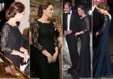 DIANE VON FURSTENBERG DUCHESS KATE BLACK LACE ZARITA GOWN DRESS U.S 4 U.K. 8