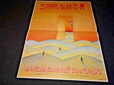 STALKER tarkovsky tarkovski   affiche cinema folon science fiction 1979