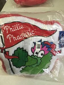 PHILLY PHANATIC PHILADELPHIA PHILLIES UNIQUE GLOVE SHAPED PILLOW FREE SHIPPING!!