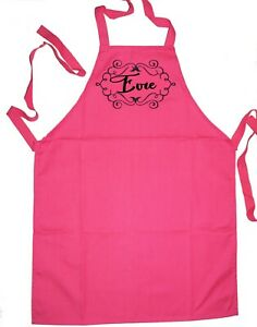 Kids Cooking Apron | Art Smock | Personalised | Scroll Heart 1st Name FREE