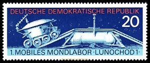 EBS East Germany DDR 1971 1st mobile lunar laboratory Lunochod Michel 1659 MNH**