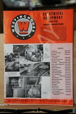 Brochure Westinghouse Electrical Equipment for MIning Industry Mine Circa 1949