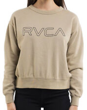 Tag RVCA Womens Size 14 Keyline Crew Jumper Pullover Sweatshirt Gold Rush