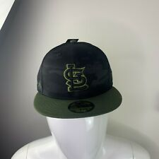 St Louis Cardinals Memorial Day Hat Black Green Camo MLB Size 7 1/8 NEW
