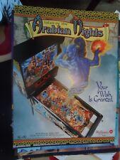 Arabian Nights Williams Pinball Flyer NOS