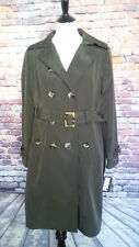London Fog dark green removable lining double breasted size M