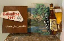 Vintage Ballantine Beer Sign 1960's 3-D Rare! Bar Man Cave