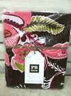 Pottery Barn Teen Boho Floral Flowers Blooms Bed Dorm Duvet Cover Twin Brown