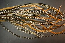 "Lot # 28, (40) 9-12"" Rooster Saddle Dry Fly Skinny Feather Bundles 