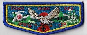 OA Egwa Tawa Dee Lodge 129 1915-1990 S11 Flap RBL Bdr. GA [MX-6366]