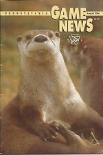 Pennsylvania Game News August 2004 cover by Hal Korber river otter
