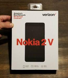 "VERIZON NOKIA 2 V 5.5""inch PREPAID CELL PHONE BRAND NEW NIB 4G LTE SIM"