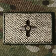NEW MEXICO STATE FLAG US ARMY MORALE MULTICAM VELCRO® BRAND FASTENER BADGE PATCH