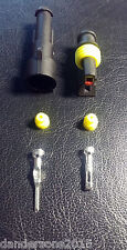 1 Pin Automotive Plug Pair - for Motorbike, Cars - Flame Retardant & Water Proof