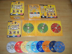 THE SIMS COMPLETE COLLECTION Pc Inc Sims 1 base game all Add-Ons - Boxed Version
