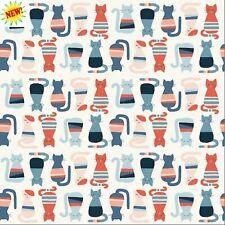 Cool Cats From Modern Love By Monaluna Fabrics  100 % Organic