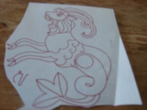 Embroidery transfer Aries vintage