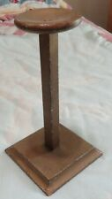 New listing Vintage Wooden Hat Stand 11 in tall gold wide base