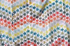 Eco Reusable Foldable Fashion Shopping Tote Bag White Multi Color Stars