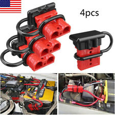 4pcs 50A Battery Trailer Quick Connector Plug Kit Connect Disconnect Winch - USA