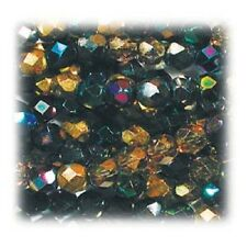Czech Glass Round Faceted Fire-Polished Bead Mixes
