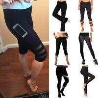 Women High Waist YOGA Pants Fitness Leggings Gym Running Sports Stretch Trousers