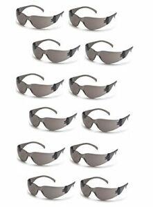 Pyramex Intruder S4120S SMOKE/GRAY Safety Glasses Work Eyewear - 12 Pair/1Dozen