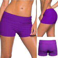 Purple Stretchy Wide Waist Cover Up Bikini Shorts Swimwear Boardshorts S-2XL USA