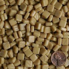 8mm Mosaic Glass Tiles - 2 Ounces About 87 Tiles - Dark Cream