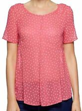 NEXT LADIES RED STAR SWING CHIFFON TOP BLOUSE  SIZE 6 RRP £25 BRAND NEW TAGS