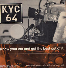 KYC 64 Know Your Car And Get The Best Out Of It EP 1960's Mono