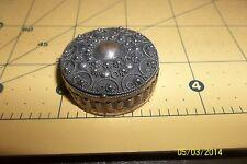 Vintage Sterling Silver Filigree oval Unusual Trinket Box