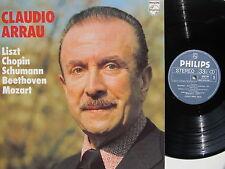 "Claudio Arrau 12"" Lp Plays Liszt, Chopin, Schumann, Beethoven, Mozart Dutch 70's"