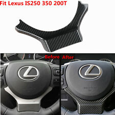 For Lexus IS250 350 200T 2014-2017 Carbon Fiber Steering Wheel Add On Trim Cover