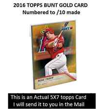 WADE BOGGS #35 RED SOX ACTUAL CARD 2016 Topps BUNT 5X7 Gold Version #/10 Made