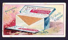 F & J Smith ADVERTISEMENT CARD 1897 Card #1 *Fair Condition*